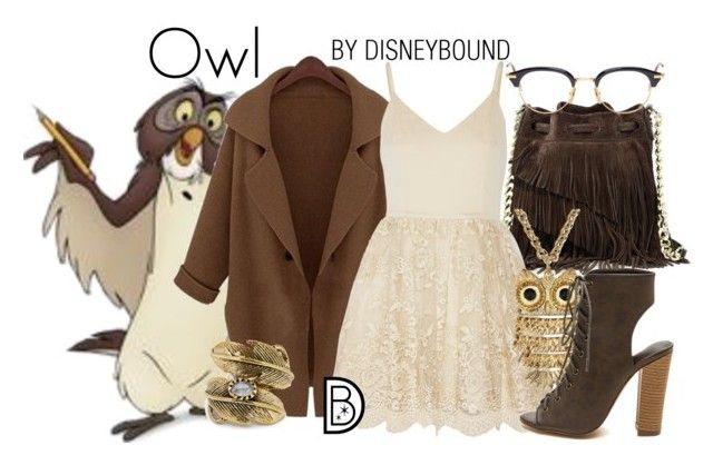 """Owl"" by leslieakay ❤ liked on Polyvore featuring Elizabeth and James, Alice + Olivia, Arizona, Thom Browne, Natalie B, women's clothing, women, female, woman and misses"