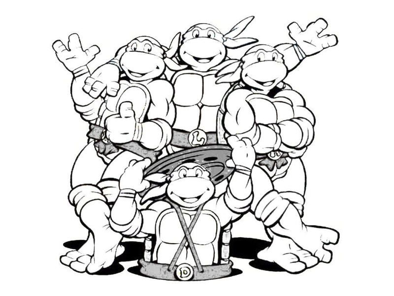 Free Printable Ninja Turtle Coloring Pages