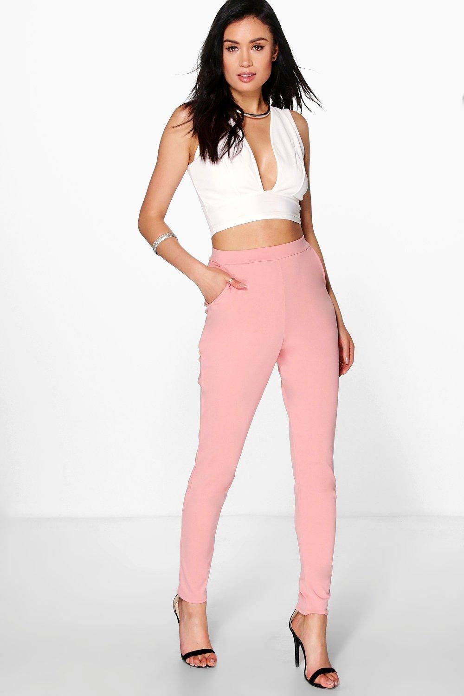 5e19d00a724fa Boohoo - Carmilla Scuba Super Stretch Skinny Trousers ---------------- 16€