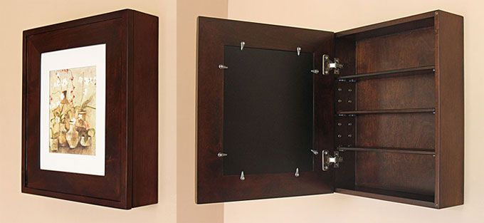Recessed Medicine Cabinets With Picture Frame Doors Mirrorless