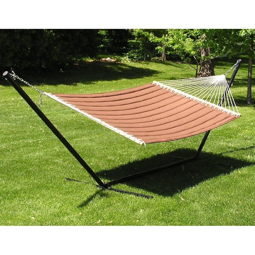 grand quilted two person hammock and stand set   brown grand quilted two person hammock and stand set   brown   hammock stand  rh   pinterest
