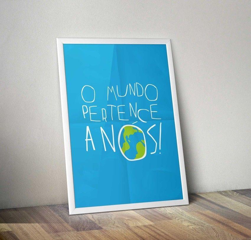 Cartaz inspirado na música Hoje a noite não tem luar da banda Legião Urbana.