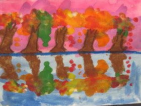 Lines, Dots, and Doodles: Fall Tree Reflections, 2nd Grade