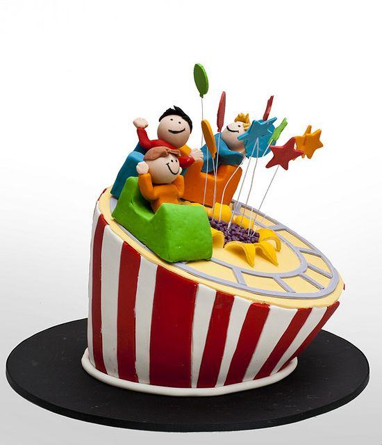 Rollercoaster Cake Roller Coaster Cake Childrens Birthday Cakes Cake