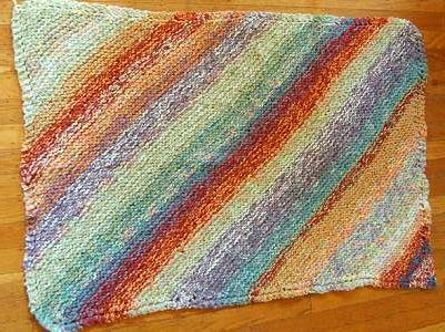 Cotton Chenille Baby Blanket - free knit baby blanket pattern for ...