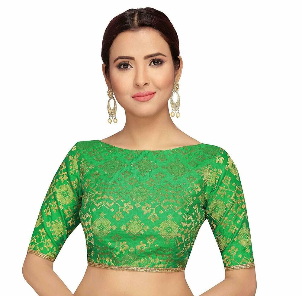 0a8a86b17f Brocade Green New Readymade Boat Neck Blouse Saree Choli Sari Tunic Top  Wedding #fashion #clothing #shoes #accessories #womensclothing #tops (ebay  link)