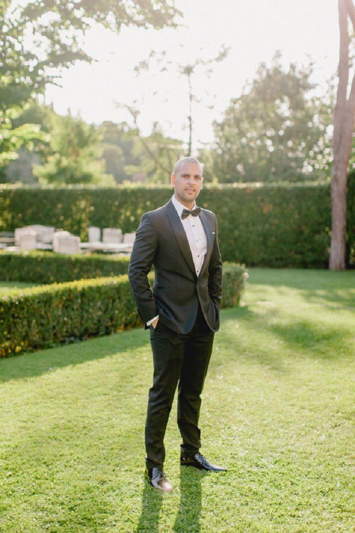 Groom style for a Breathtaking Fairytale Venice Wedding + Steven Khalil wedding dress | itakeyou.co.uk #wedding #venicewedding #destinationwedding #elegantwedding #white #goldwedding #fairytalewedding