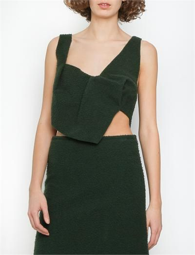 J.W. Anderson Bib Top- Green