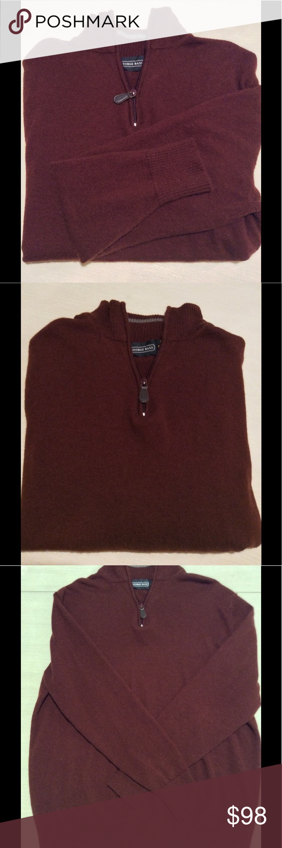 Men's 100% Cashmere Sweater | Half zip sweaters, Zip sweater and ...