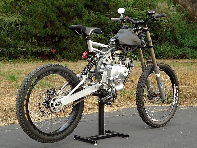 8a2f5702290 Motoped | Motorized Bicycle. Not technically a motorcycle, but I'd ride the