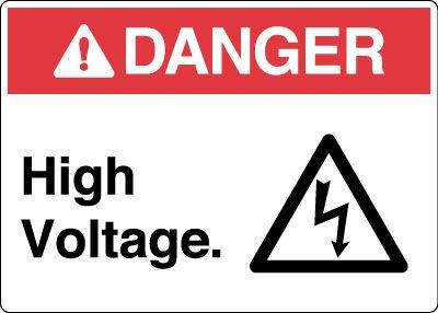 Electrical Safety Sign Danger High Voltage With Symbol Electrical Safety High Voltage Dangerous