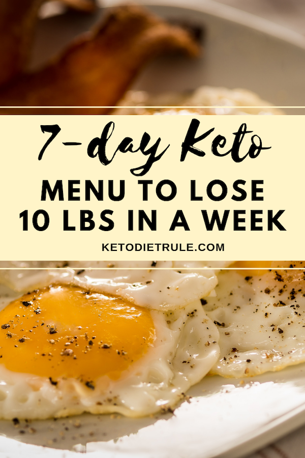 7-Day Keto Diet Meal Plan and Menu for Beginners to Lose Weight #ketorecipesforbeginners