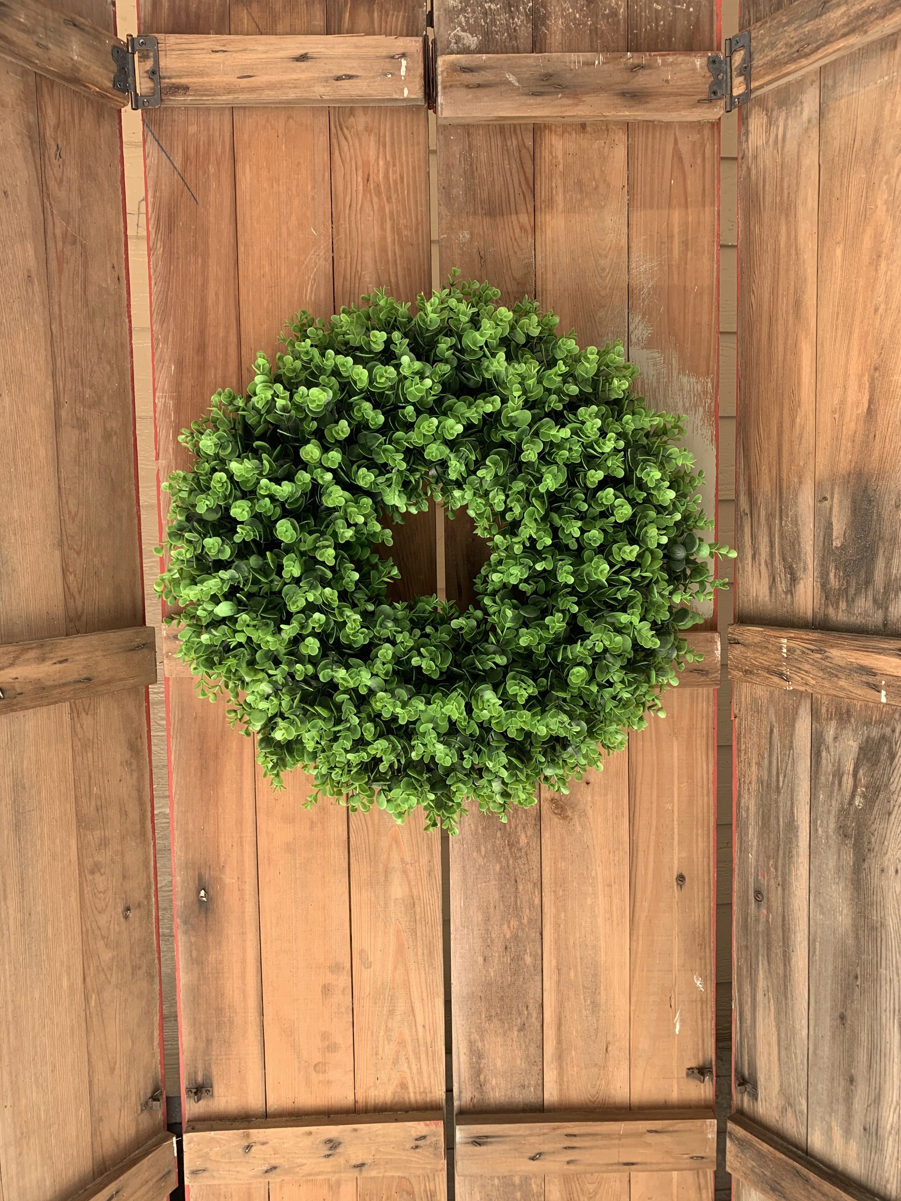 Photo of Evergreen eucalyptus wreath Thewildflowergifts
