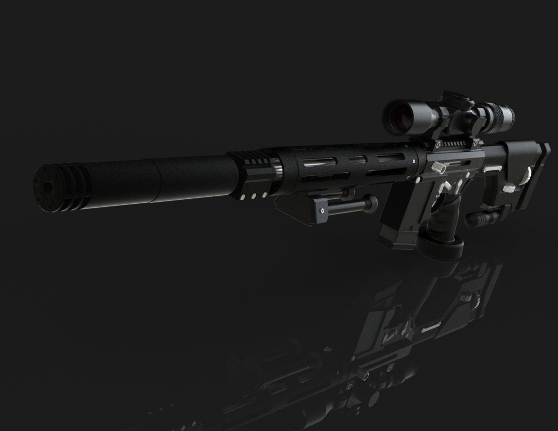 AR-15 Sniper Rifle - SOLIDWORKS,SOLIDWORKS - 3D CAD model