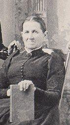 Martha J. Quiner Carpenter, una de las hermanas de Caroline Quiiner Ingalls.