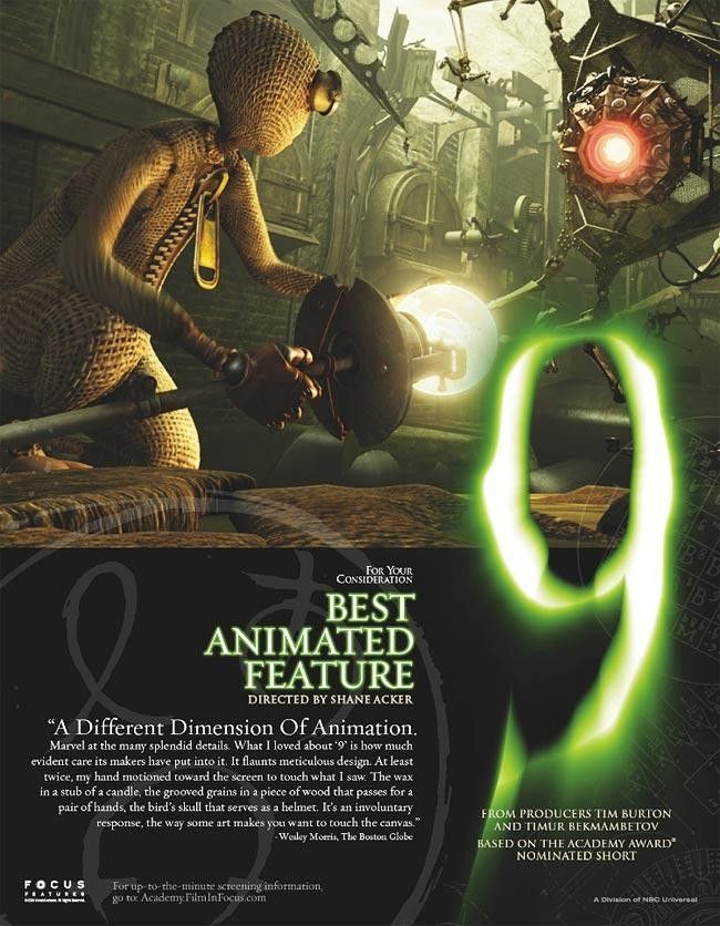 9 Number 9 Nine About Time Movie Animation Film Posters