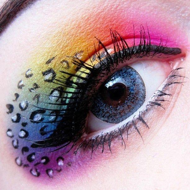 ♥86 Crazy Eye Makeup . Design.  Eye.