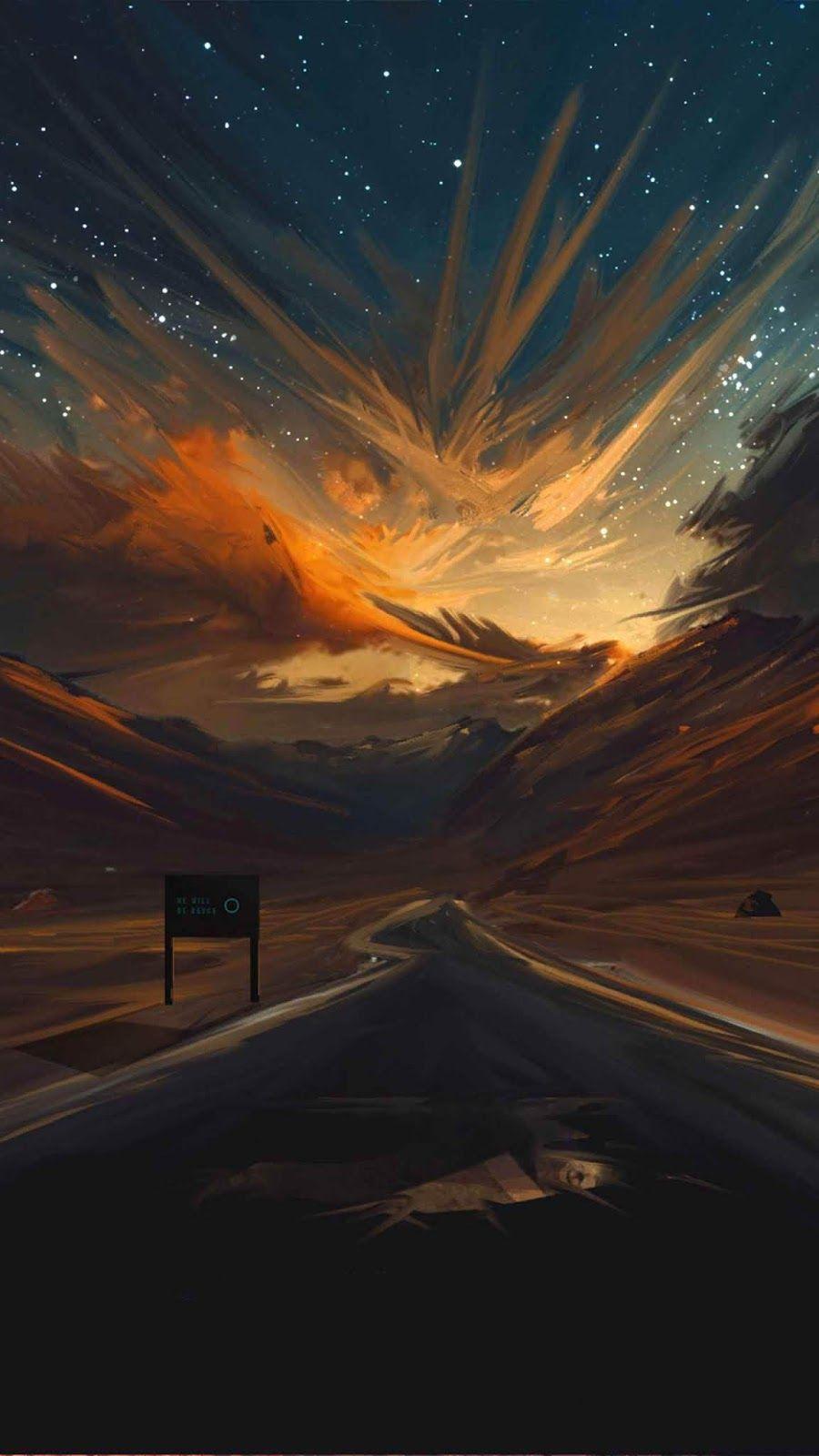 Sunset Road Wallpaper In 2019 Artistic Wallpaper Iphone
