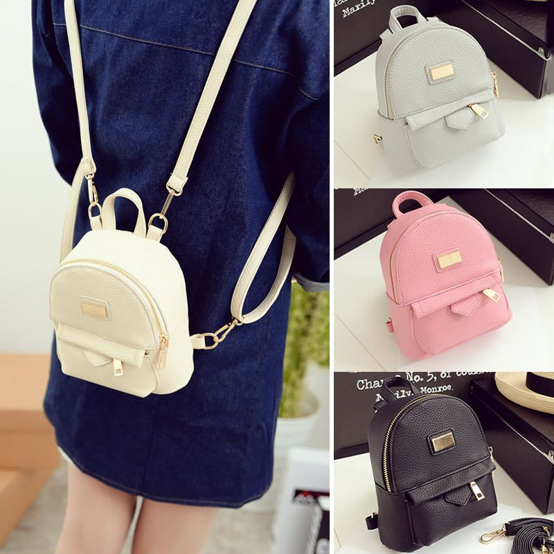 e4cc8c8f8c1d Bag · Women s Faux Leather Convertible Small Mini Backpack Rucksack  Shoulder bag Purse