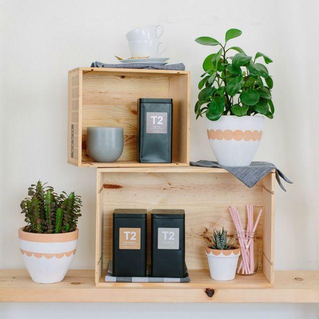 30 ideas de inspiraci n para decorar con macetas y plantas for Ideas para decorar macetas