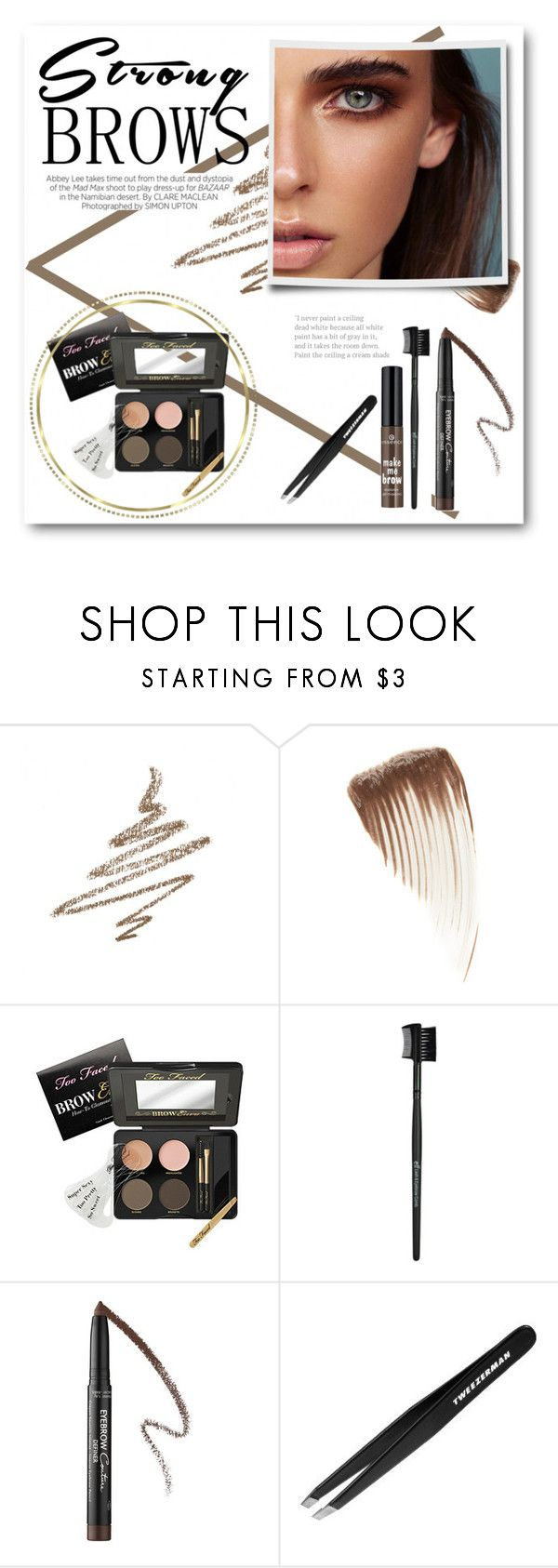 """Strong Brows"" by lalalaballa22 ❤ liked on Polyvore featuring beauty, Anastasia Beverly Hills, B The Eyebrow Experts, Brinley Co, Too Faced Cosmetics, Givenchy, Kershaw, Tweezerman, BeautyTrend and strongbrows"
