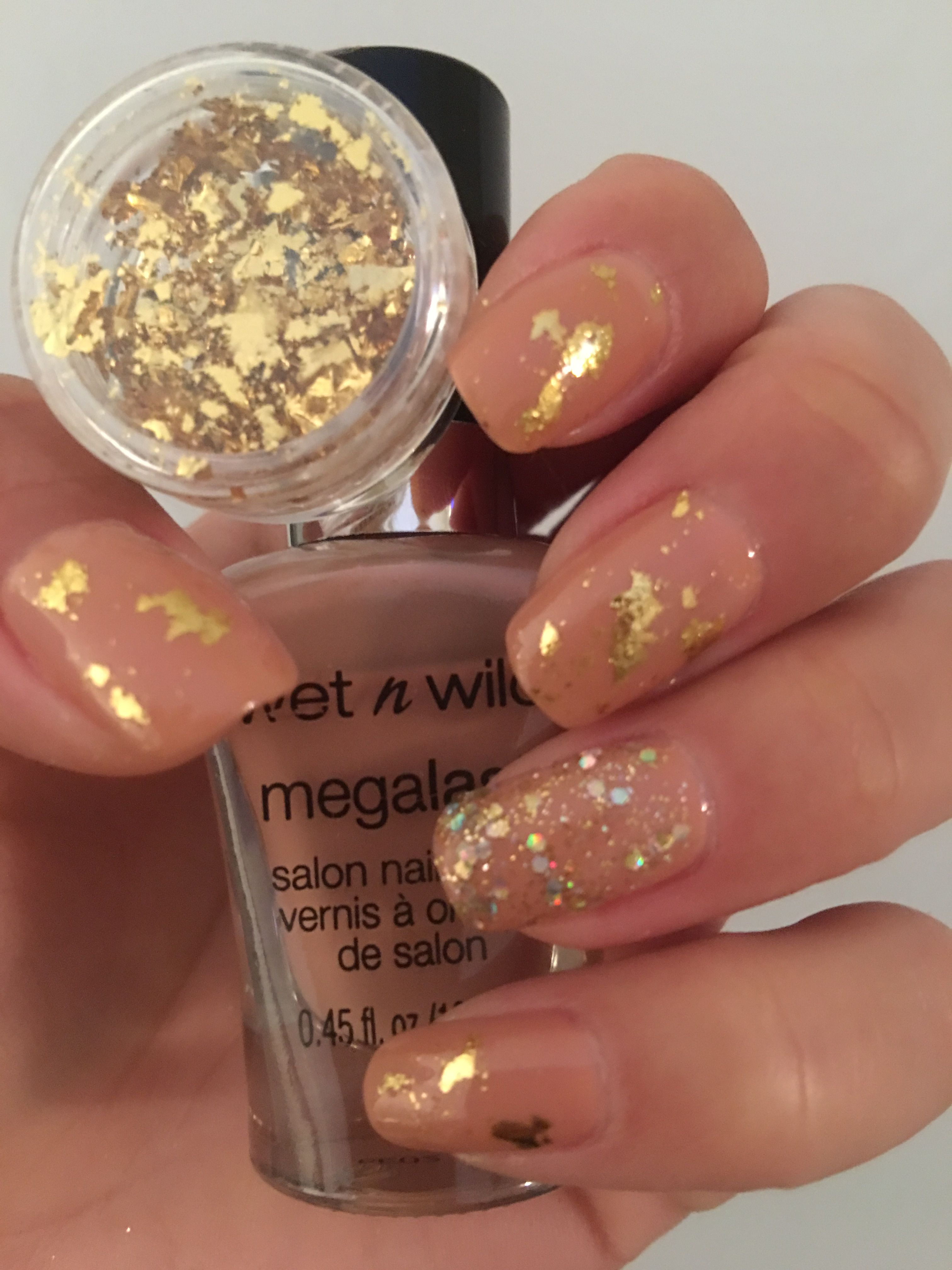 Nude wet n wild nail polish in the color Private Viewing also gold ...