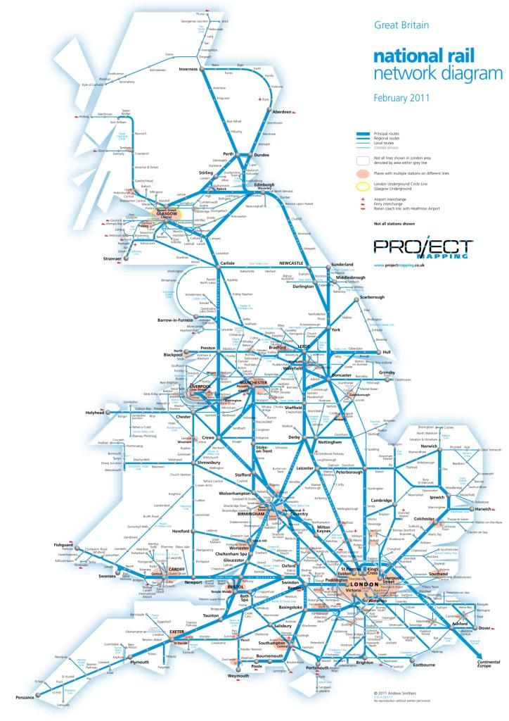 National Rail Network Map Pin by Alex Bannon on Maps | Plus size dresses uk, National rail