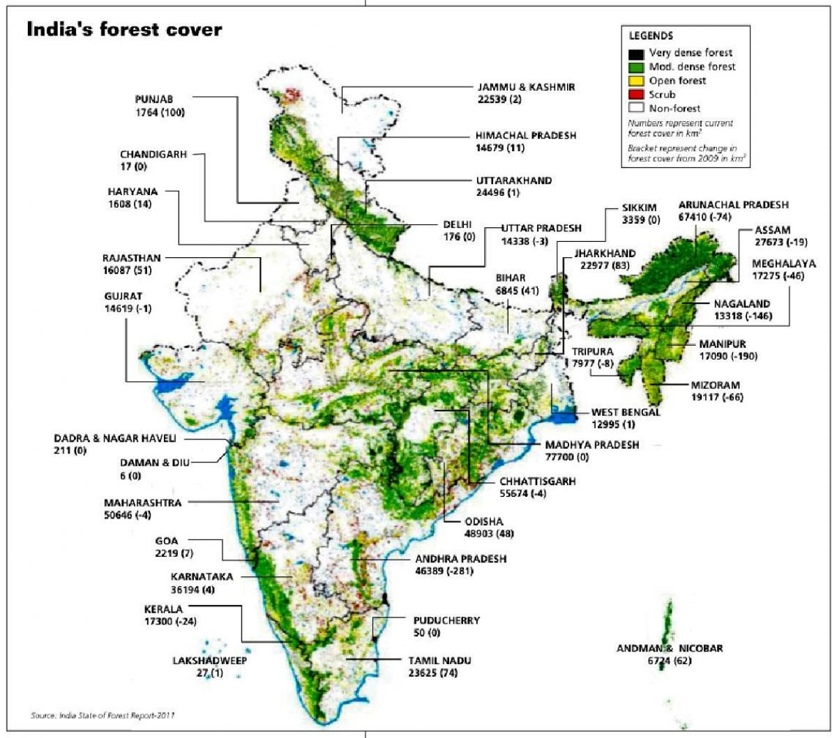 Tropical Evergreen Forest In India Map From Maps India In