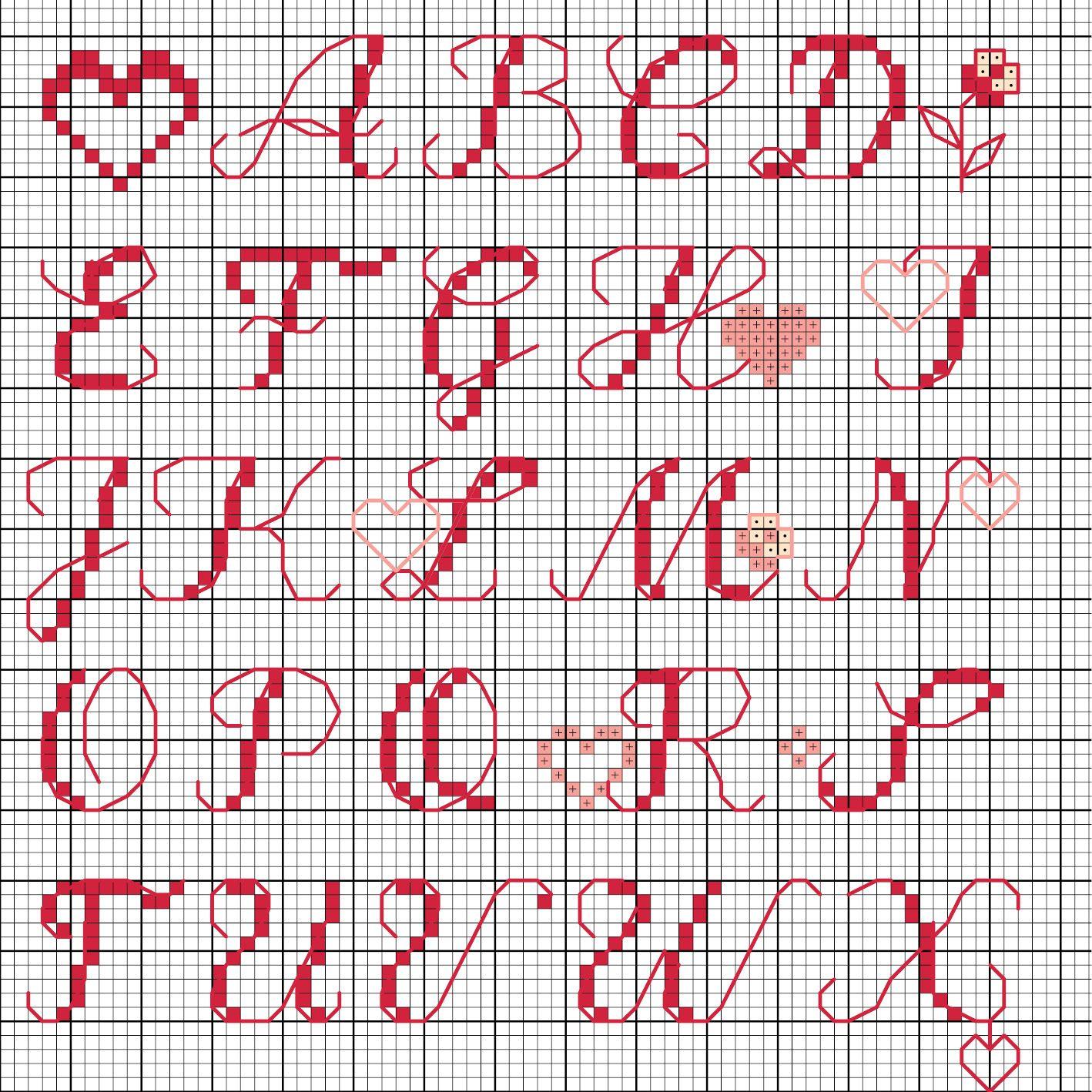 Not Angka Lagu Kreuzstich Buchstaben Vorlagen 11