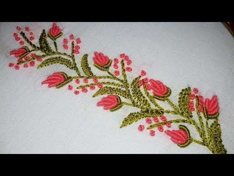 Hand Embroidery Designs Border Line Tutorial For Beginners By