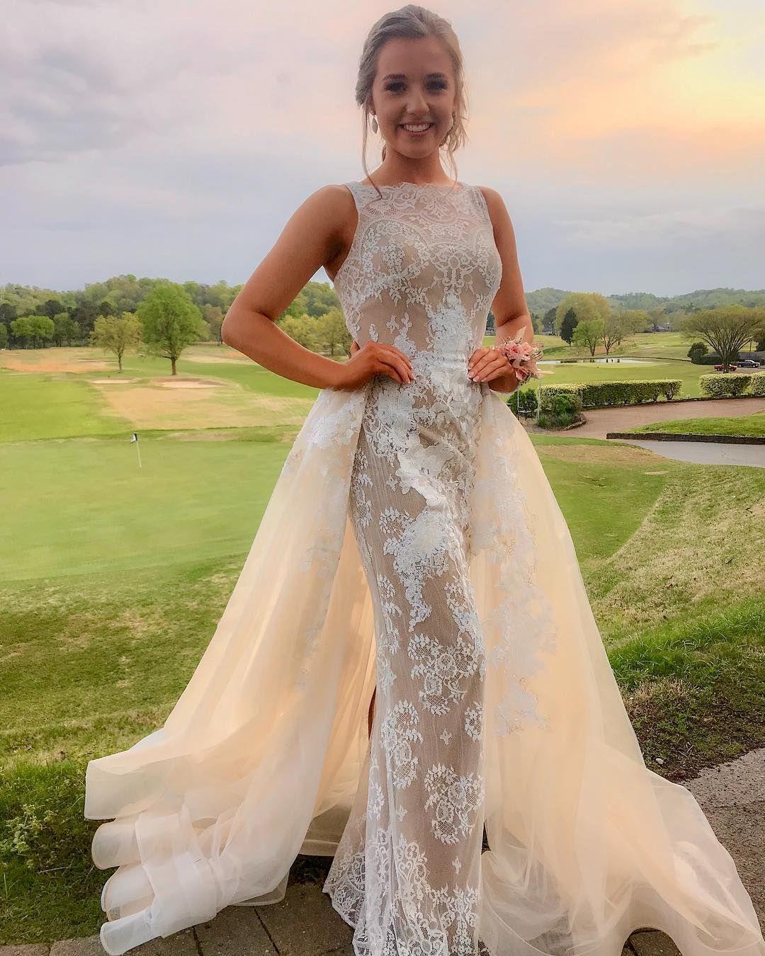 Wedding Dresses, Detachable Train Lace Wedding