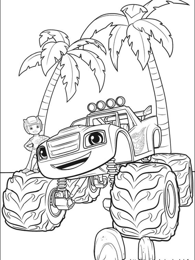Blaze And The Monster Machines Colouring Pages To Print Blaze And The Monster Mach Monster Truck Coloring Pages Monster Coloring Pages Coloring Pages To Print