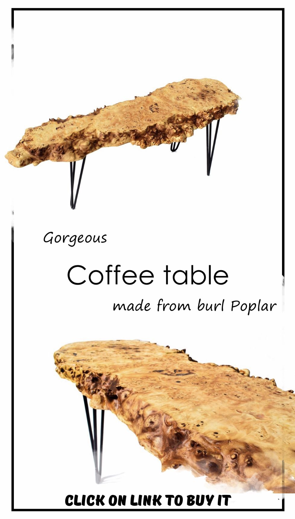 If you like it just click on link to buy it! #coffeetable #wood #woodentable #woodtable #woodentable #woodtable #woodtableplans #burl #burlpoplar #burlwoodcrafts #burlwooddiy #woodburl #littletable #farmhousetable #rusticstyle #rustictable #cooltable #beautifultable #cutetable #dinnertable #woodendinnertable #wood #woodcrafts #woodenstuff #giftforchristmas #giftforparents