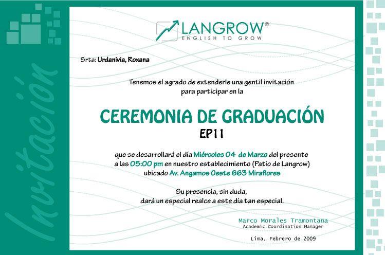 Texto Para Invitaciones A Graduación Imagui Invitaciones