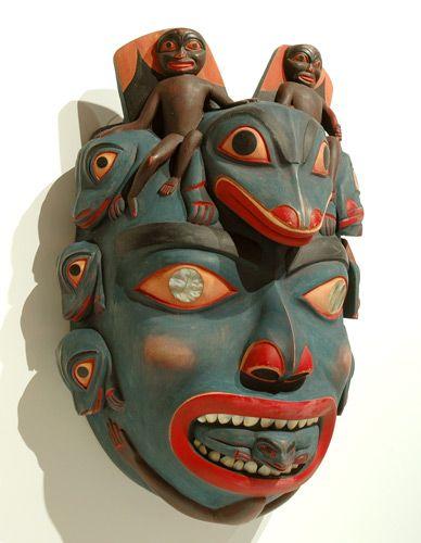 Shaman's Mask by Al Cole, Nuxalk artist (W80302)