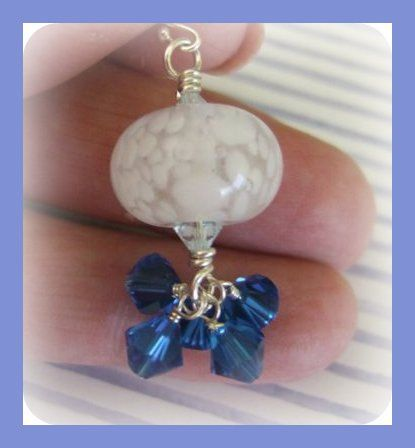 Dark Blue Skies on a Snowy Night by joanne79 on Etsy, $22.00