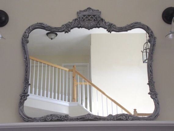 Grey Vintage French Provincial Mirror By Meandphoebe On Etsy 225 00