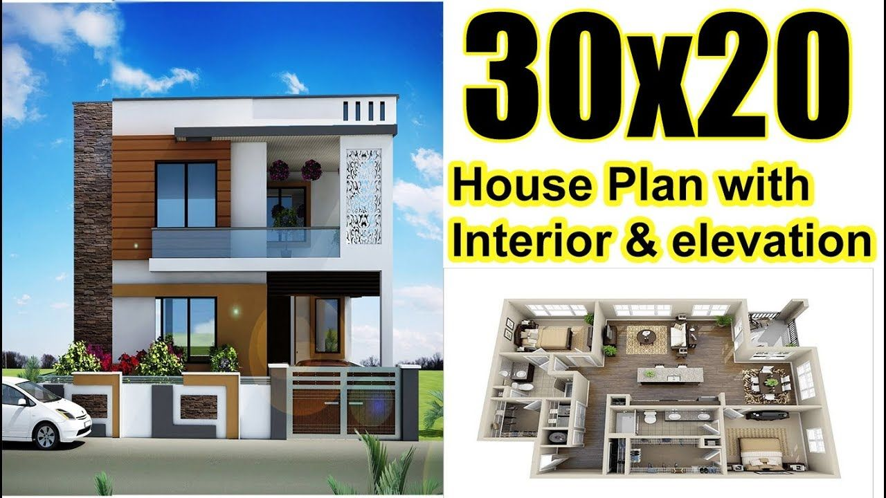 30x20 House Plan With Interior Elevation 2019 Style 20x30 House Plans House Plans House Elevation