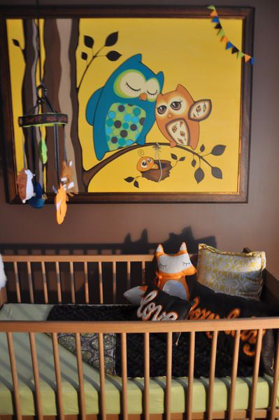 Roots Wings Baby Olivia Grace Unisex Baby Room Owl Nursery