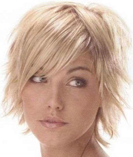 Short Shag Hairstyles Side And Center Part Great For Fine Hair And Receding Hairline