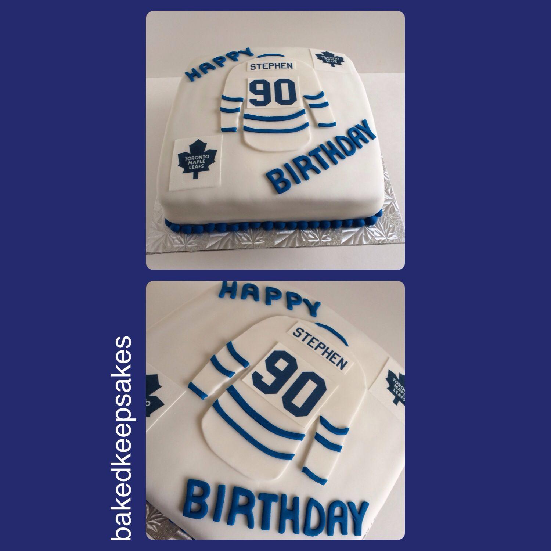 Toronto Maple Leaf Birthday Cake By Baked Keepsakes Baking