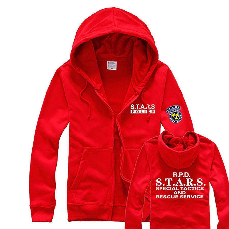 Resident Evil RPD STARS Raccoon Cosplay Costume 3D Jacket Hoodie Sweatshirt
