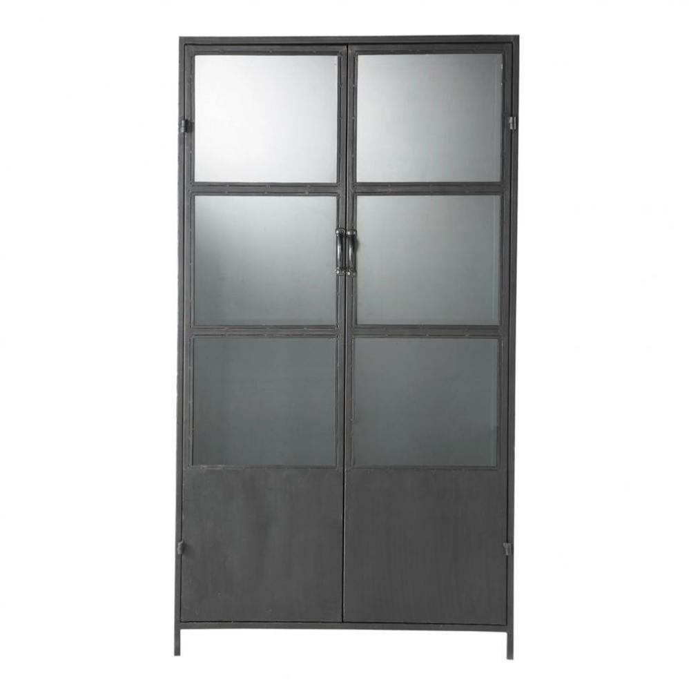 Zwarte metalen industriële vitrinekast B ... - Edison | Display ...