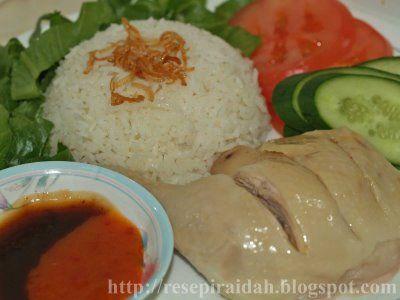 Resepi Raidah Nasi Ayam Hainan Resep Makanan Masakan Malaysia Resep Masakan