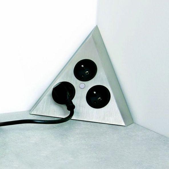 SOKLEO - Bloc 3 prises cuisine - Angle Eletronique Kawai - fixer plan de travail cuisine