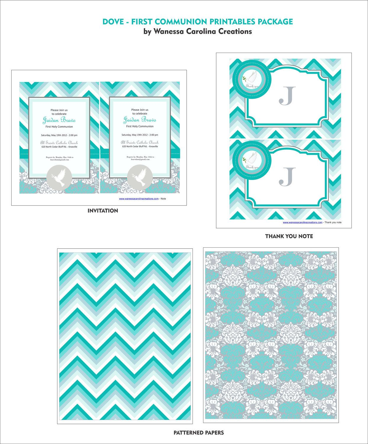 Dove First Communion Printables Package