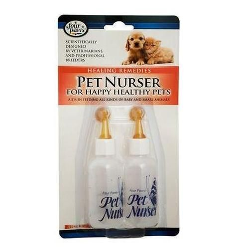 Four Paws Nurser Baby Animal Feeder Bottle Set 2 Oz Healthy Pets
