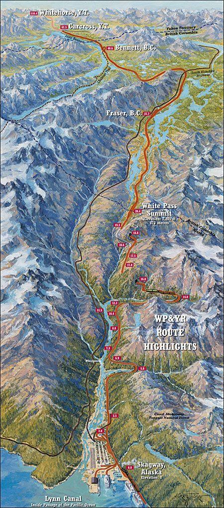 Route Map White Pass Yukon Route Alaskas most popular shore