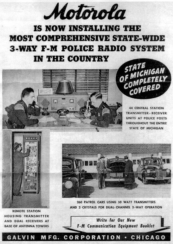 Radio History - Michigan State Police | Vintage Police