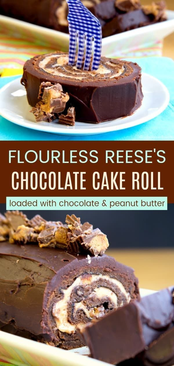 Reese S Chocolate Peanut Butter Cake Roll Cupcakes Kale Chips Recipe Chocolate Roll Cake Cake Roll Recipes Chocolate Peanut Butter Desserts